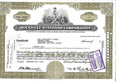 Rockwell-Standard Corporation, 21 shares, 10.12.1964
