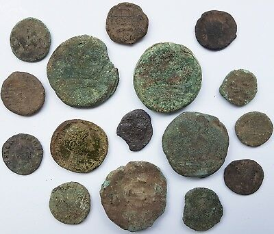 AGN - ROMAN REPUBLIC & IMPERIAL - INTERESTING LOT of 16 ANCIENT COINS