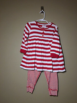 Hanna Andersson RED & WHITE Play Day DRESS & Loose LEGGINGS 90 3 3T - Item:0016