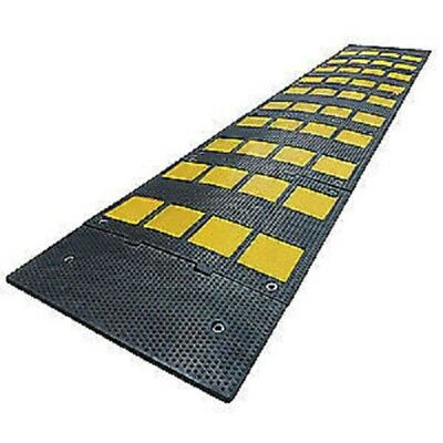 GRAINGER APPROVED Speed Bump,24in.W,1-1/8in.H,108in.L,Rbbr, 29NH25, Black/Yellow