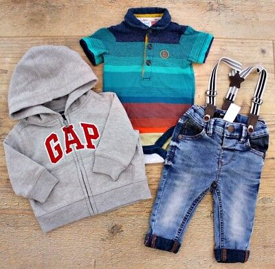 Ted Baker Gap Next Baby Boys Bundle Outfit Jacket Jeans Polo Top Shirt Age 3-6 M