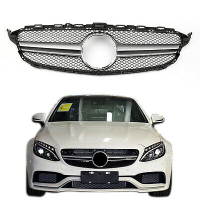 2015-2016 MERCEDES-BENZ W205 C250 300 GRILL GRILLE GLOSS BLACK NO Camera Hole