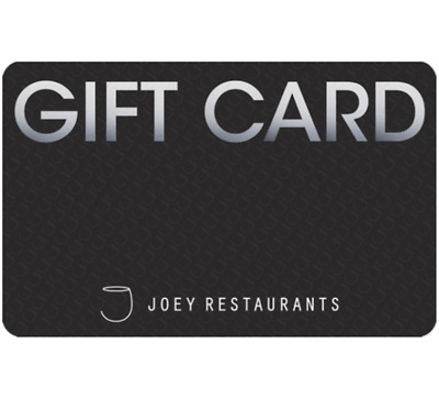 Joey Restaurants Gift Card $25, $50, or $100 - Email Delivery