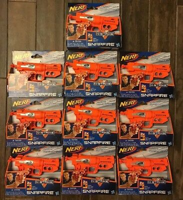 NEW Nerf N-Strike SNAPFIRE Blasters 10 Guns with 20 Darts Bundle/Lot Party