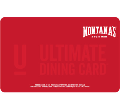 Montana's BBQ & BAR Gift Card $25, $50, or $100 - Email Delivery