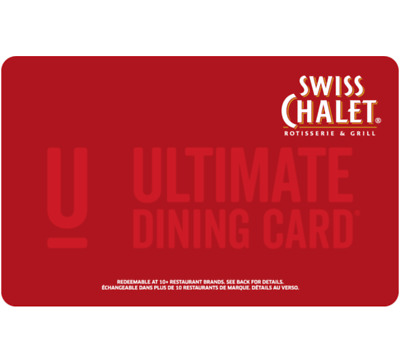 Swiss Chalet Gift Card $25, $50, or $100 - email delivery