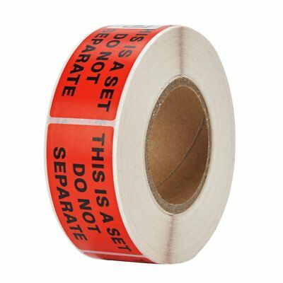"""1 Roll 500 Labels 1"""" x 2"""" Pre-Printed This Is A Set Do Not Separate Labels"""