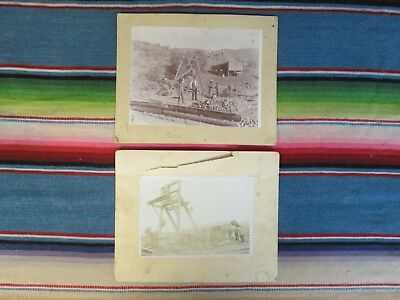 Lot Of 2 Antique Mining Photos From Two Different Mines In New Mexico