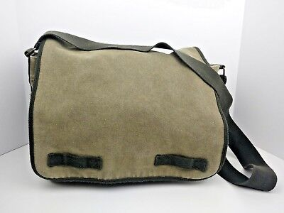 Old Navy Messenger Bag Green Canvas Military Style Cross