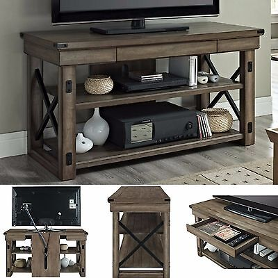 Industrial TV Stand Entertainment Center Media Console Storage Table Rustic  New Rustic Industrial Tv Stand E15