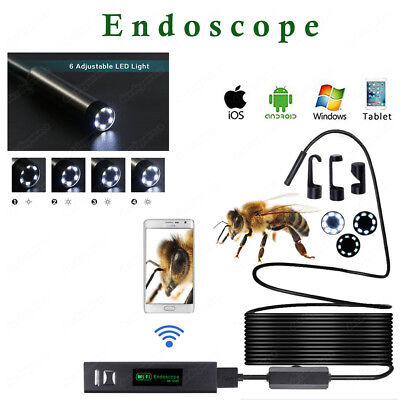 WIFI Endoscope 5m Waterproof Borescope Inspection HD Camera for Andriod iPhone