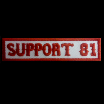 Hells Angels Support Patch  SUPPORT 81   Aufnäher  Original 81 Support Red&White