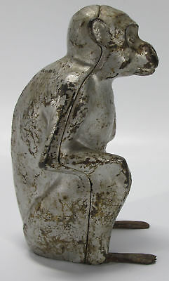 Antique Hubley Cast Iron Seated Monkey Doorstop Paperweight ORIG Finish NR yqz