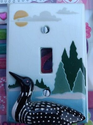 Classic Loon Wild Bird Animal Light Switch Cover Plate