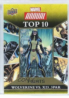 2016 Upper Deck Marvel Annual Top 10 Fights Gold #TF-2 Wolverine X23_3PAR 5x5