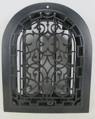 Antique 19thC Arch Top Dome Heat Grate Wall Register Architectural Salvage 1 yqz