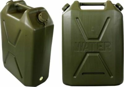 Plastic Jerry Can Water Container 22L 22 L Camping Army Caravan Storage Tank New