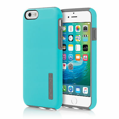 NEW Incipio DualPro Hard Shell Case Dual Layer Cyan/Gray Cover for iPhone 6S 6