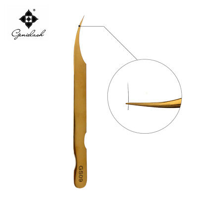Genielash® GS09 Gold Colour Professional Tweezers Eyelash Extension Lashes