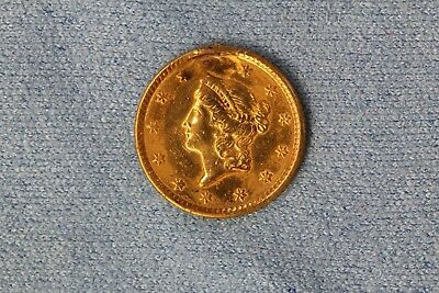 1852 U.S. Liberty Head One Dollar $1 Gold Coin Damage No Reserve!
