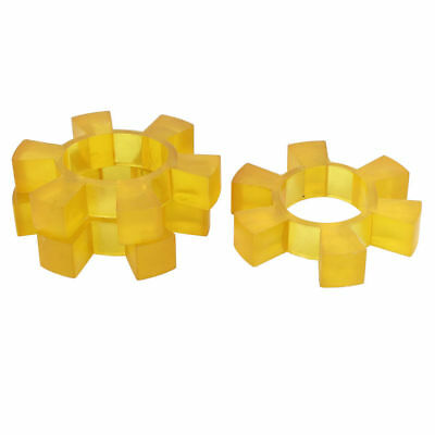 H● 120mm Dia Gear 57mm Bore Rubber 6T Spiders Coupler Dampers Yellow 3pcs
