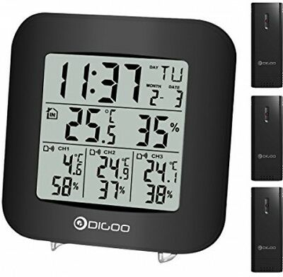 Digoo Th3330Digital De 3canaux IN And OUT Thermomètre Hygromètre Capteur