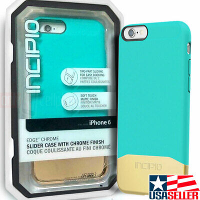 NEW Incipio Edge Chrome Hard Shell Case Teal/Gold Cover for iPhone 6S 6