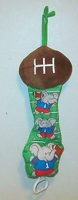 Boys Green Brown Safety 1st First FOOTBALL Sports Theme Crib Pull N' Play Musica