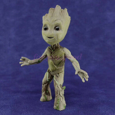"Cute 3.5"" Guardians of The Galaxy Vol. 2 Standing Baby Groot Figure Toy Gift"