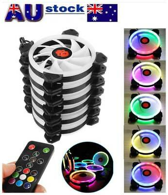 12CM PC Chassis Cooling Fan Rainbow Lights Colorful RGB Multimodal Cooling AU