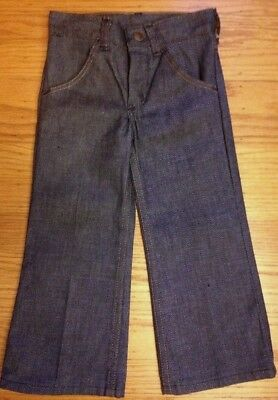 Vtg Jeans Maverick 60s Baby Kids Pants Denim Size 4 Slim Toddler USA