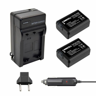 2pcs NP-FW50 Battery + Charger for Sony A6300 A6000 A5000 A7R Alpha 7 NEX-6 SK