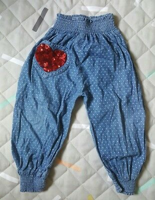 Little Wings Size 24 Months Girls Baby Toddler Chambray Pants