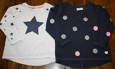 Eve's Sister Girls Round Neck Crew Sweat Jumpers X 2.  Size 4.  In Euc