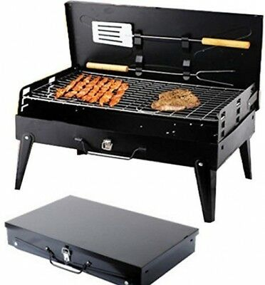 Klappgrill Faltgrill Koffergrill Camping Kohle Grill Notebookgrill XL