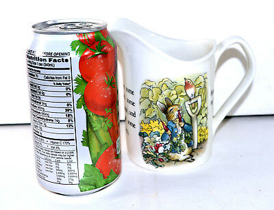 WEDGWOOD PETER RABBIT 10 OZ. PITCHER  BEATRIX POTTER Free U.S. Shipping