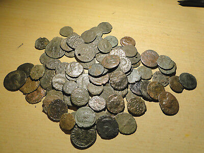 5 Assorted Mixed Cleaned Roman Bronze Coins. (lower grade)