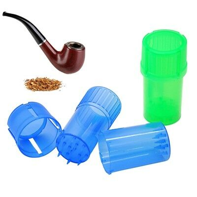 """3.07"""" 78MM 3 Parts Spice Mill Plastic Herb Grinder Can Tobacco Storage Case"""