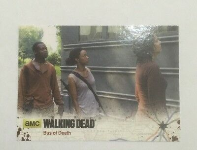 #35 Bus of Death Card The Walking Dead Season 4 Part 2