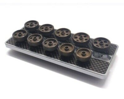 Arrowmax Set Of 10 Alu Pinions 64Dp With Caddy 37T ~ 46T Am180011