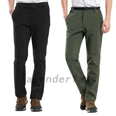 Men's Soft Shell WaterProof Thermal Trousers Outdoor Hiking Golf Winter Warm AU