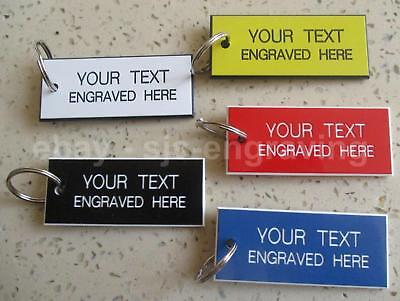 Set of 5 x Personalised Engraved Key Tags Fobs 60mm x 25mm - Hotels Pubs Garage