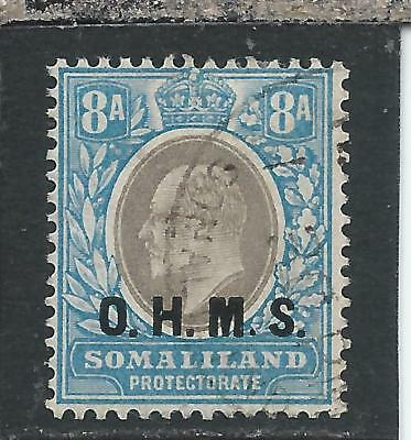 SOMALILAND OFFICIAL 1904-05 8a GREY-BLACK & PALE BLUE FU SG O13 CAT £140