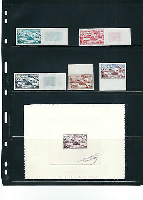 Morocco 1958 Brussels Expo Artist Signed Die Proof Imperf Set & More Lovely Mnh