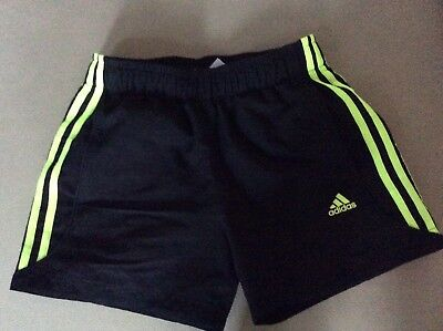 Adidas Shorts Black Fluorescent Yellow  Boys Size 11 / 12