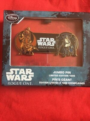 Pins Disney Jumbo Star Wars Rogue One LE 1200 Sold Out Pins Géant Disneystore