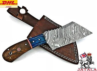 Damascus Steel Kitchen Cleaver Knife hand made (S-11)