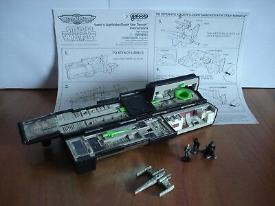 Star Wars Micro Machines  Playset Galoob Vader`s Lightsaber Death Star Trench