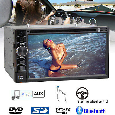 "Double 6.2"" 2Din Car Radio Cd Dvd Player Stereo Bluetooth Fm/usb/sd Mp3 Aux In"