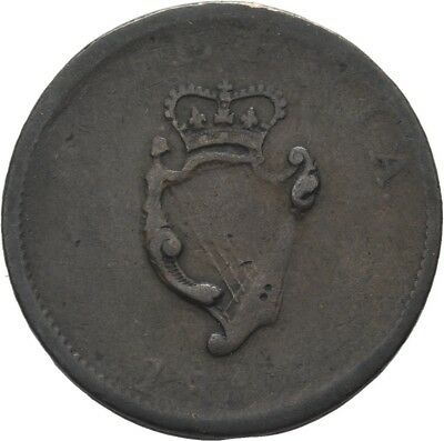 LANZ Ireland George III 1/2 Penny 1807 Harp Crown Copper :MA1361